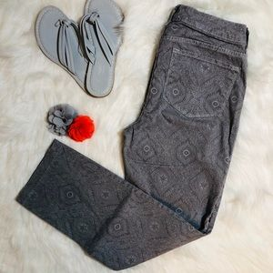 NYDJ Gray paisley print jeans